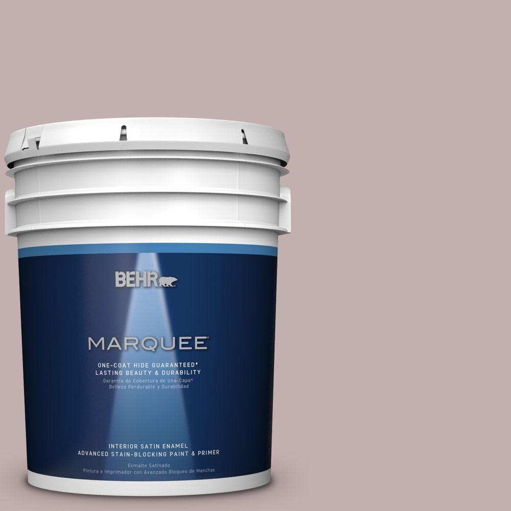 5 gal. #N130-3 Moonlit Mauve One-Coat Hide Satin Enamel Interior Paint