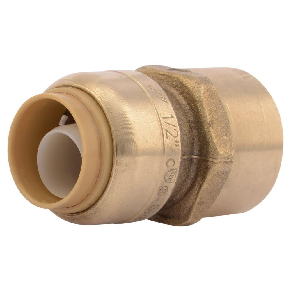 SharkBite 1/2 in. Brass Push-to-Connect x Female Pipe Thread Adapter