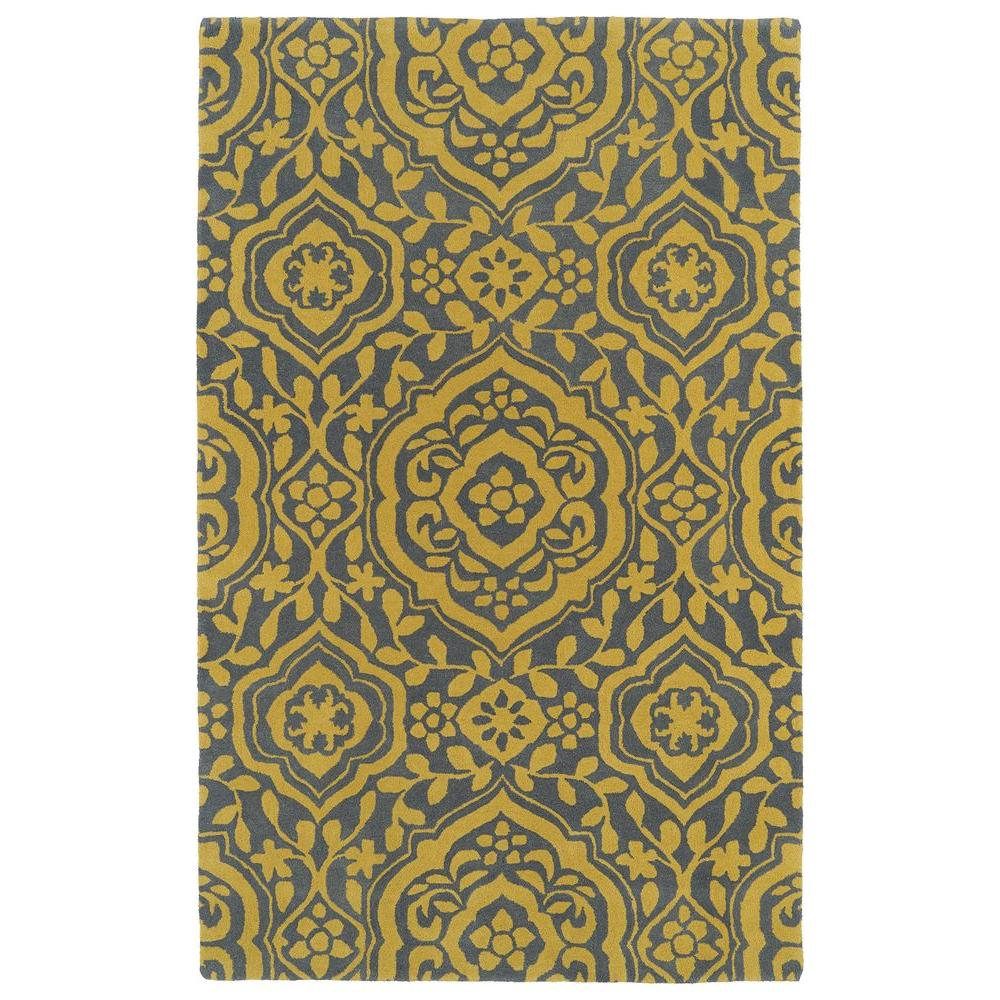 Kaleen Evolution Yellow 9 ft. 6 in. x 13 ft. Area Rug
