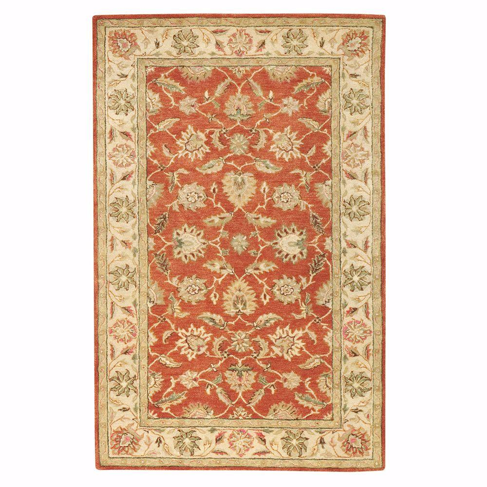 Old London Terra/Ivory 4 ft. x 6 ft. Area Rug