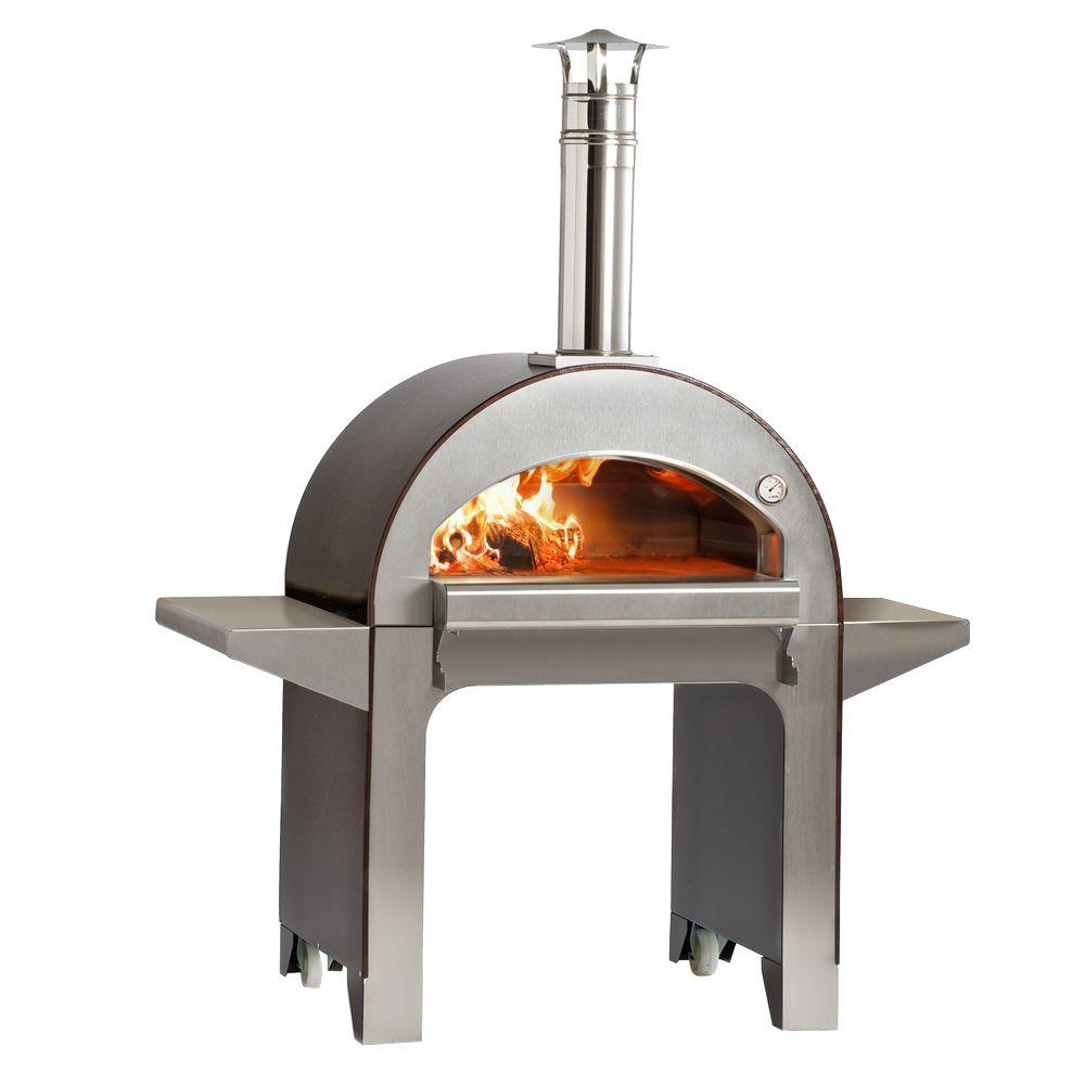 wood burning pizza oven alfa pizza 31 5 in x 23 5 in outdoor wood burning pizza 29006