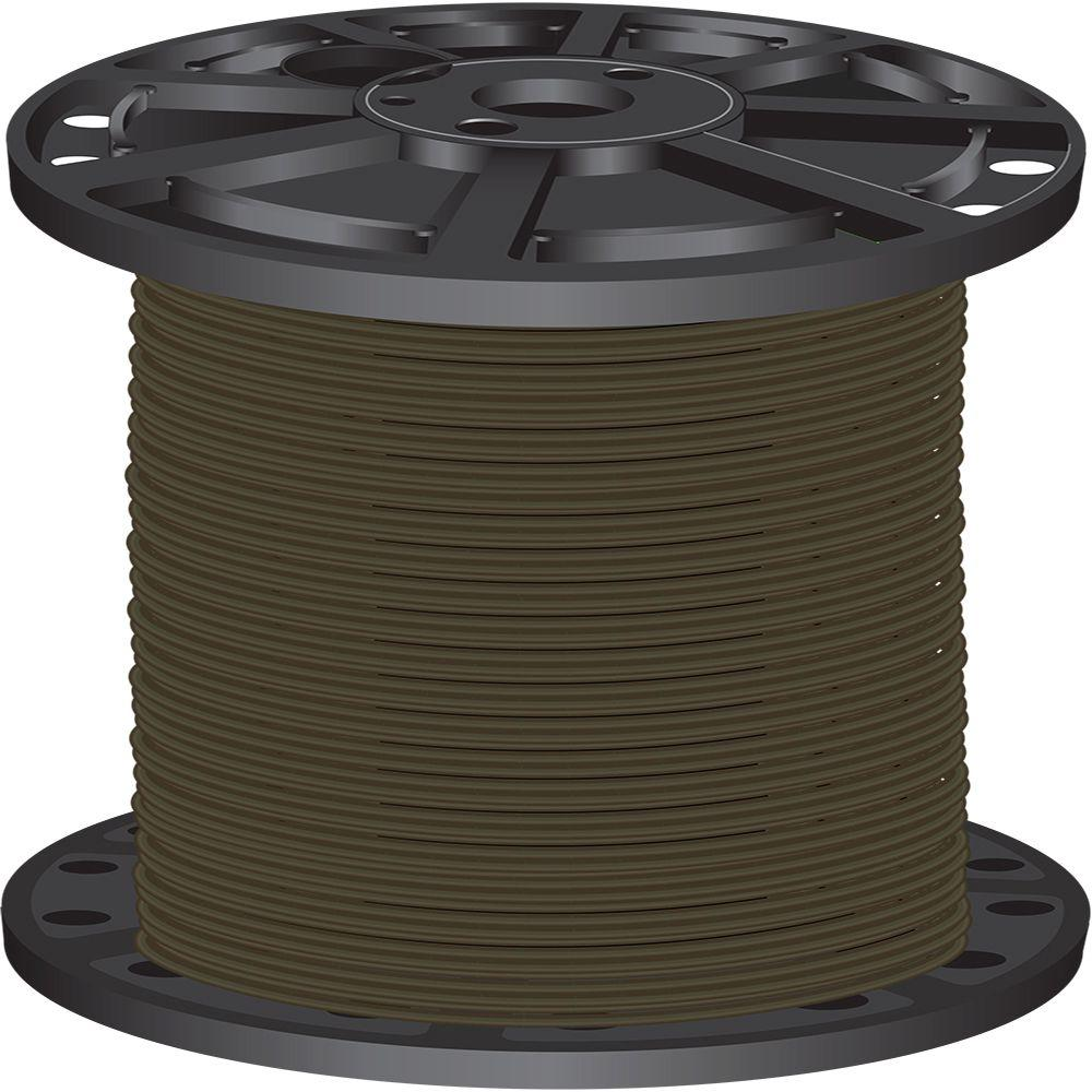 2,500 ft. 10-Gauge Brown Solid CU SIMpull THHN Wire