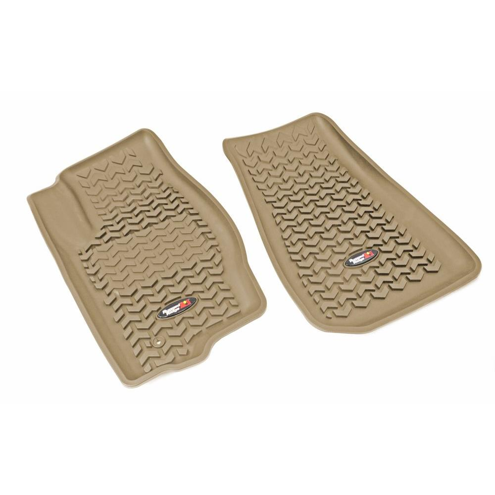 Floor Liner Front Pair Tan 05-10 Gr and Cherokee/06-10 Comm and