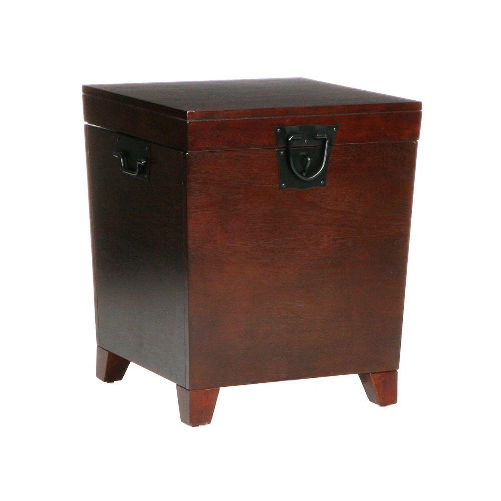 Home Decorators Collection Pyramid Espresso Brown Trunk End Table Shop Your Way Online