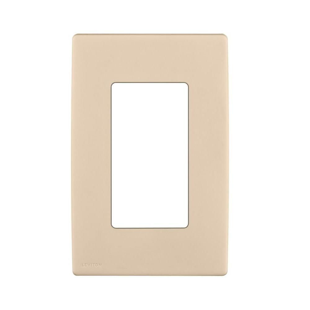 Leviton Renu 1 Gang Screwless Snap-on Wall Plate - Whipering Wheat-DISCONTINUED