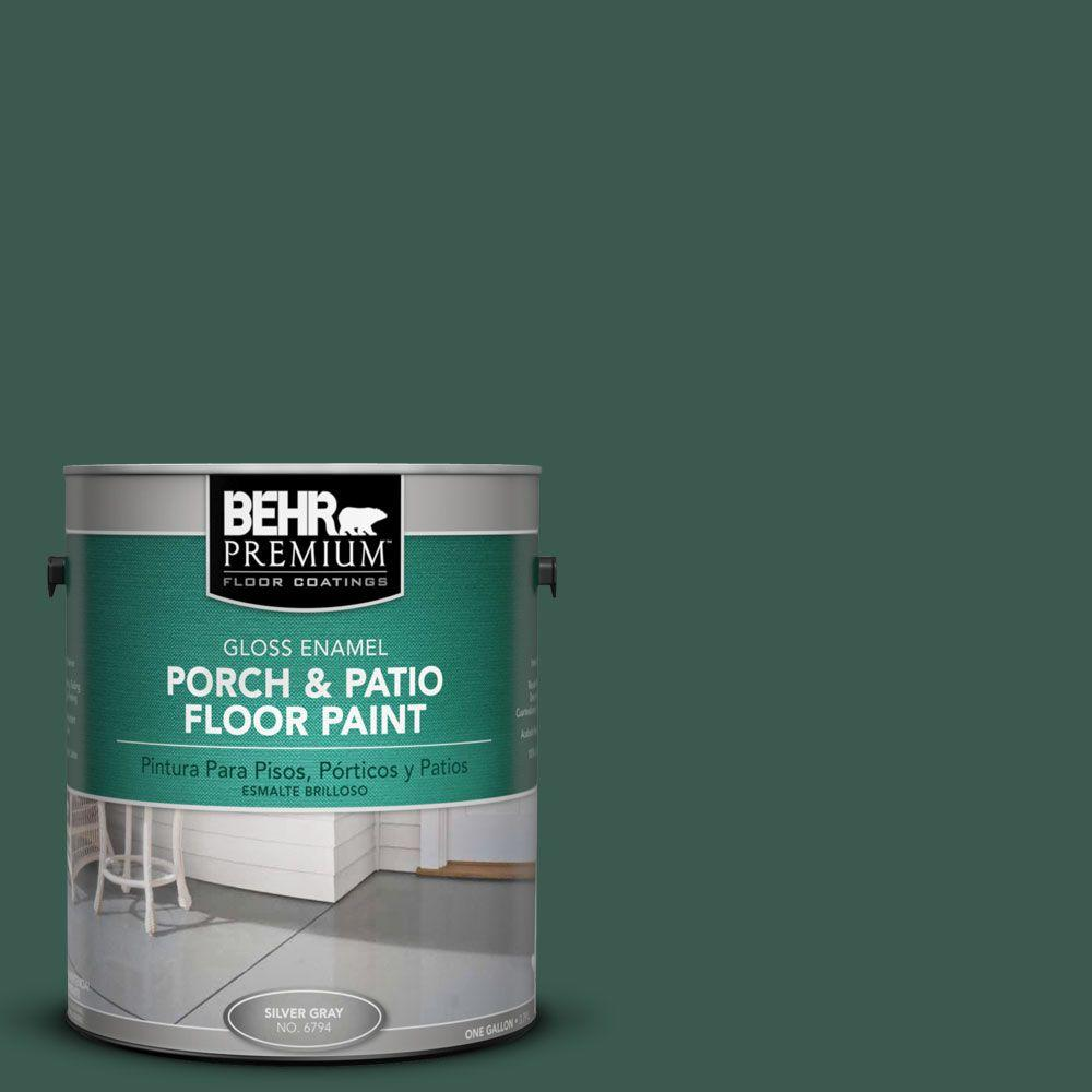 BEHR Premium 1-Gal. #pfc-45 Patio Green Gloss Porch and Patio Floor Paint