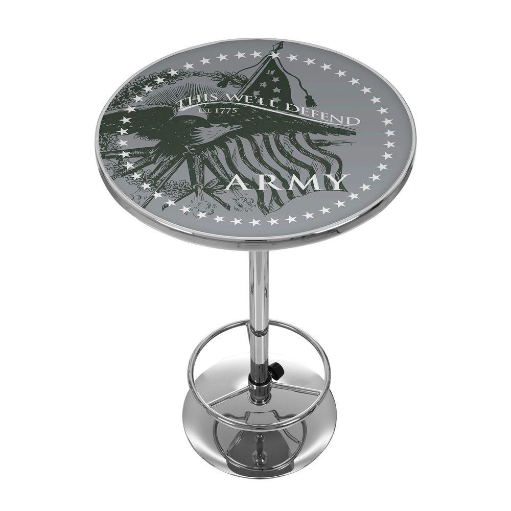 Trademark U.S. Army This We'll Defend 42 in. H Pub Table-ARMY2000-DEFEND