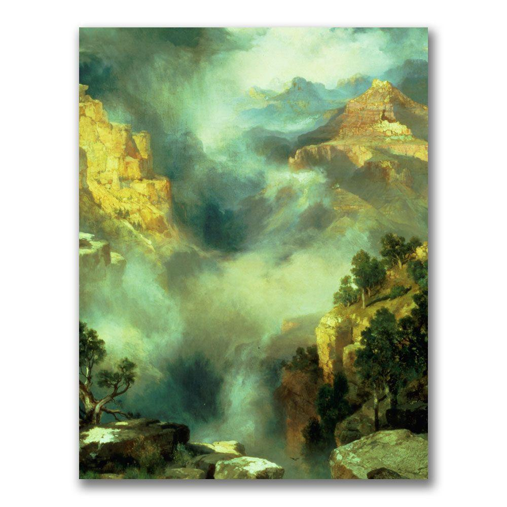 Trademark Fine Art Wall Art and Posters 24 in. x 32 in. Mist in the Canyon Canvas Art BL0560-C2432GG