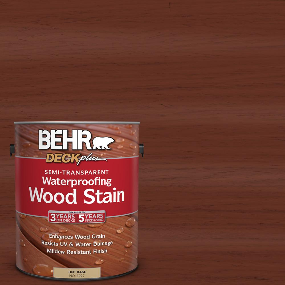BEHR DECKPLUS 1-gal. #ST-118 Terra Cotta Semi-Transparent Waterproofing Wood Stain