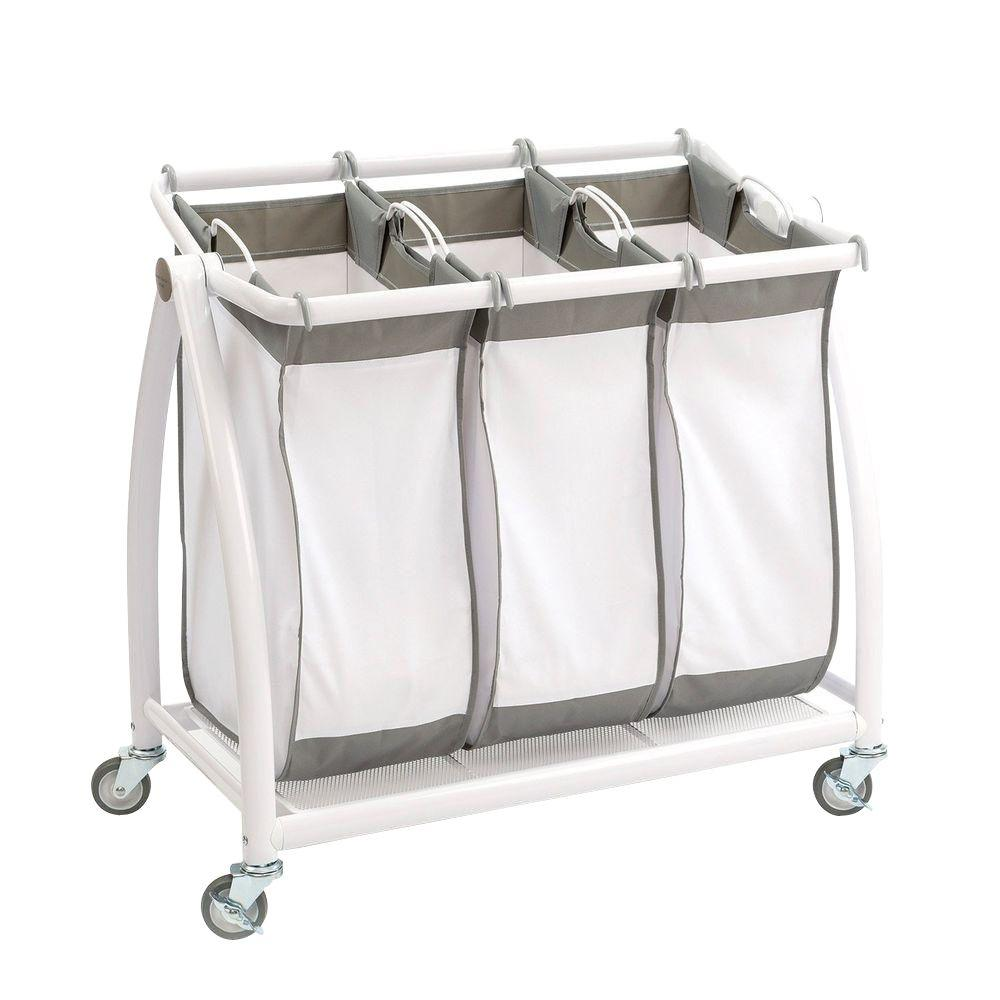 Upc 017641002508 tilt 3 bag laundry sorter in snow white - Tilt laundry hamper ...