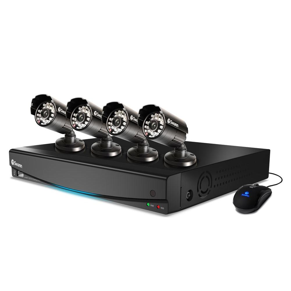 Swann 1425 8-CH D1 Surveillance System with (4) 40 TVL Indoor/Outdoor Cameras