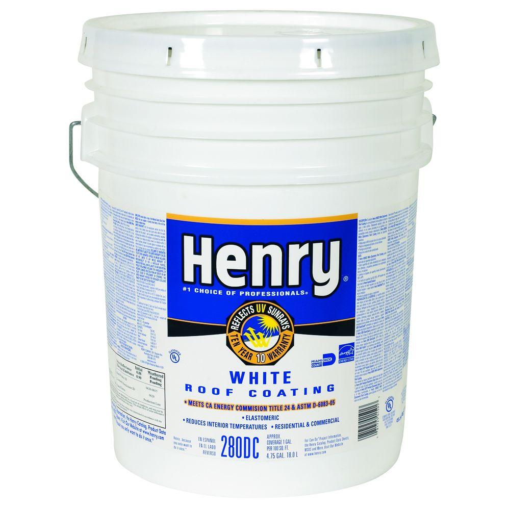 Henry 4 75 Gal Elastomeric Roof Coating He280dc073 The