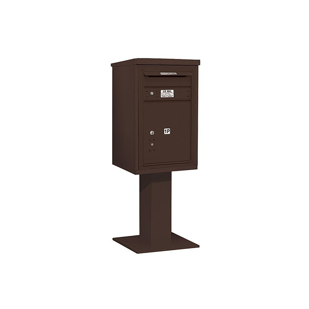 3400 Series 55-1/8 in. 7 Door High Unit Bronze 4C Pedestal