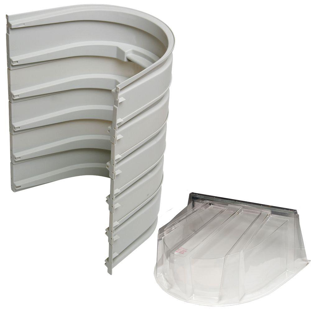 Wellcraft 5600 5-Sections 092 Gray Egress Well with Polycarbonate Dome Cover