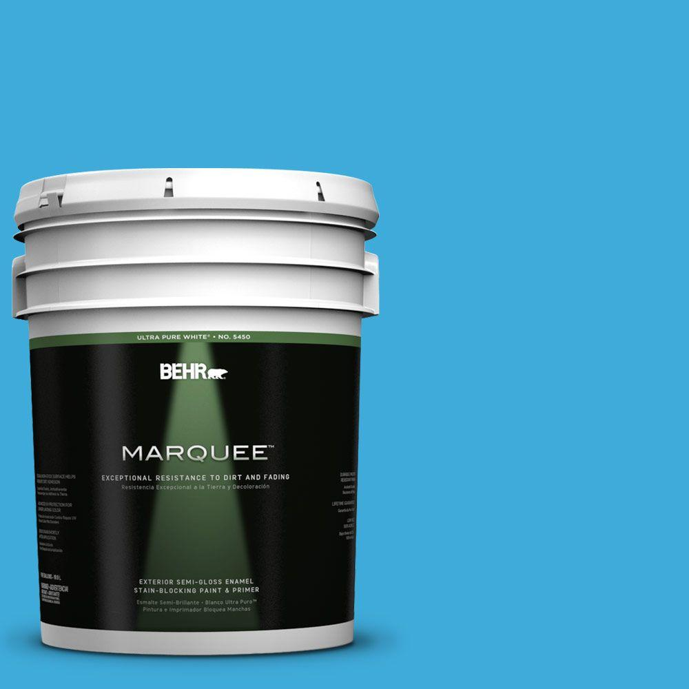 Interior Paint, Exterior Paint & Paint Samples: BEHR MARQUEE Paint 5-gal. #550B-5 Windjammer Semi-Gloss Enamel Exterior Paint 545405