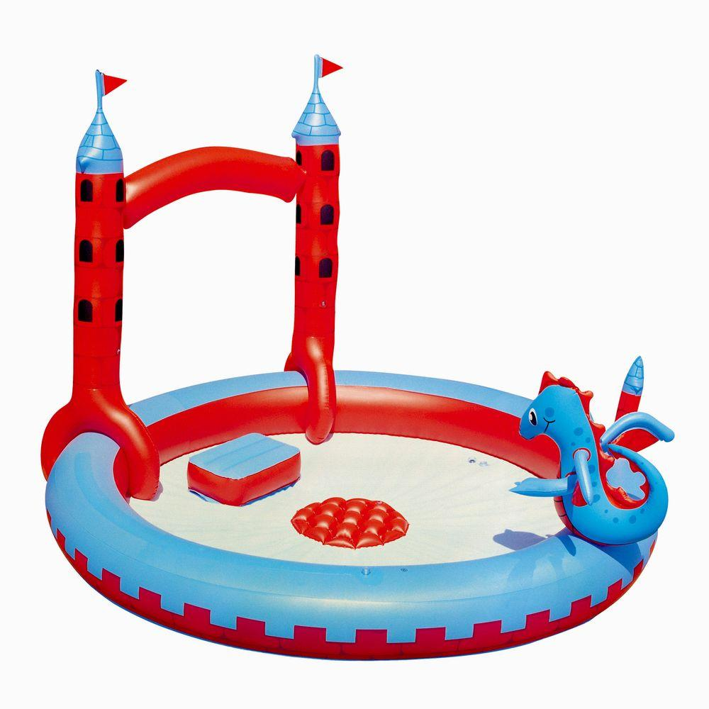 Splash & Play Interactive Castle Inflatable Play Pool