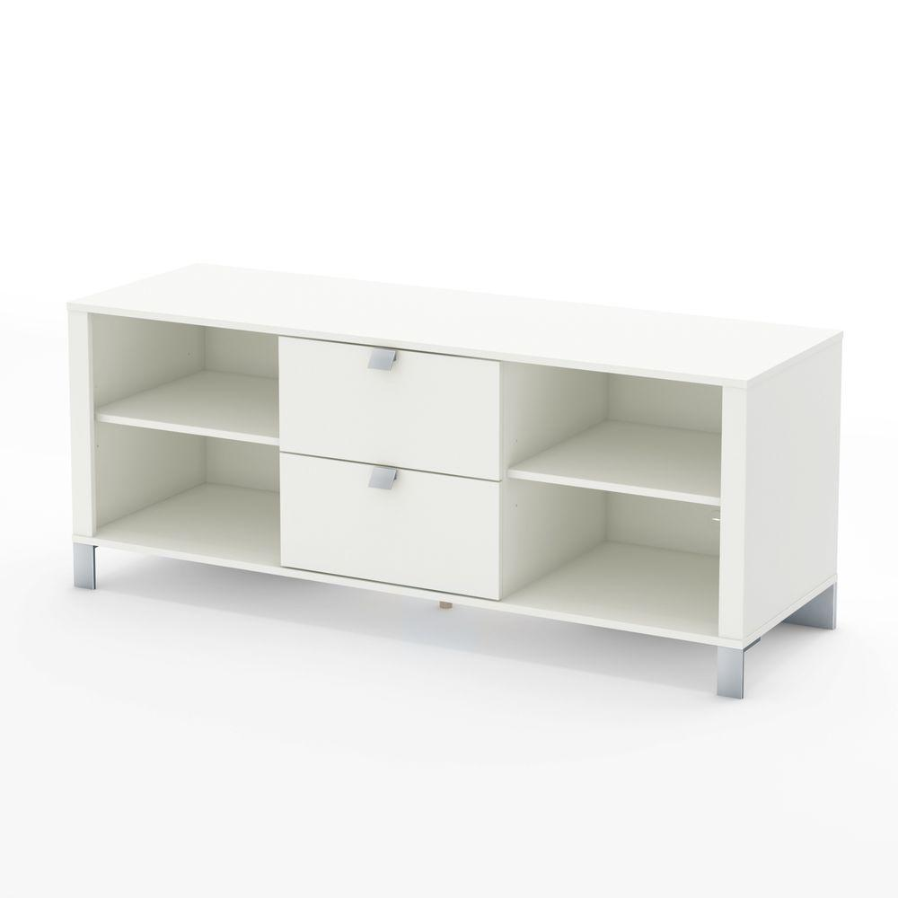 South Shore Spectra TV Stand in Pure White-DISCONTINUED