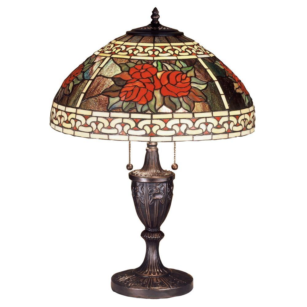 Illumine 2 Roses and Scrolls Table Lamp