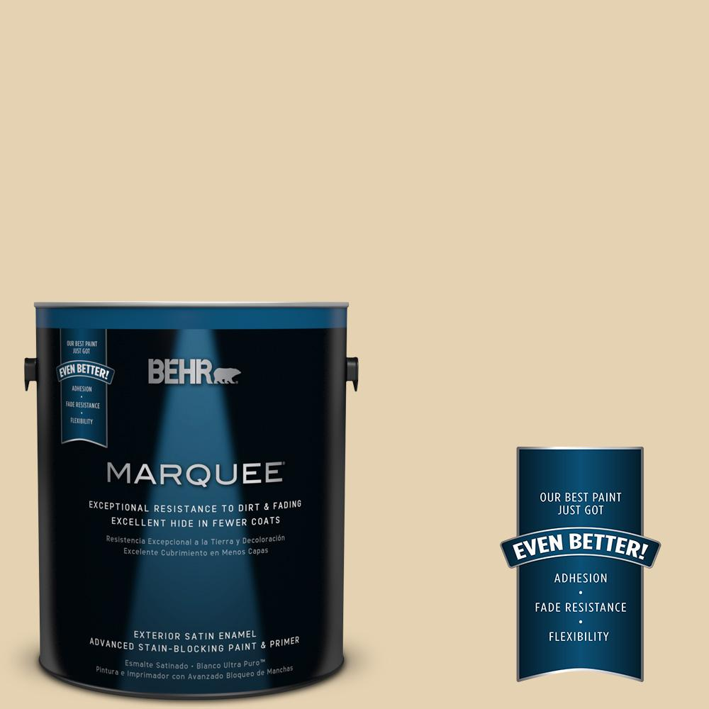 BEHR MARQUEE 1-gal. #S310-2 Journal White Satin Enamel Exterior Paint