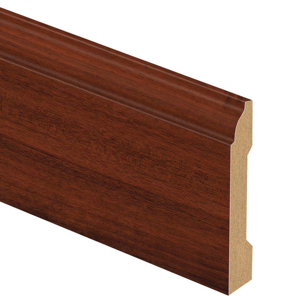 Zamma Brazilian Cherry 9/16 in. Thick x 3-1/4 in. Wide x 94 in. Length Laminate Wall Base Molding