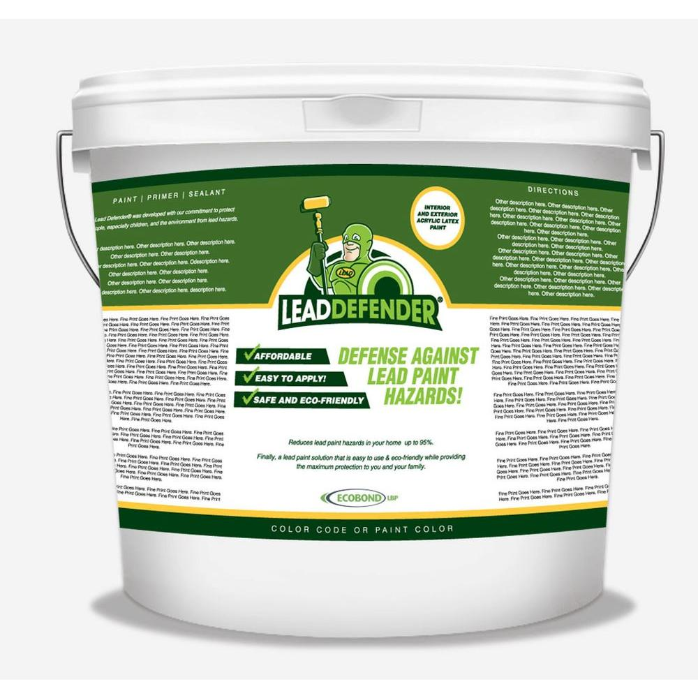 5 gal. Lead Defender Off White Flat Interior/Exterior Paint and Primer