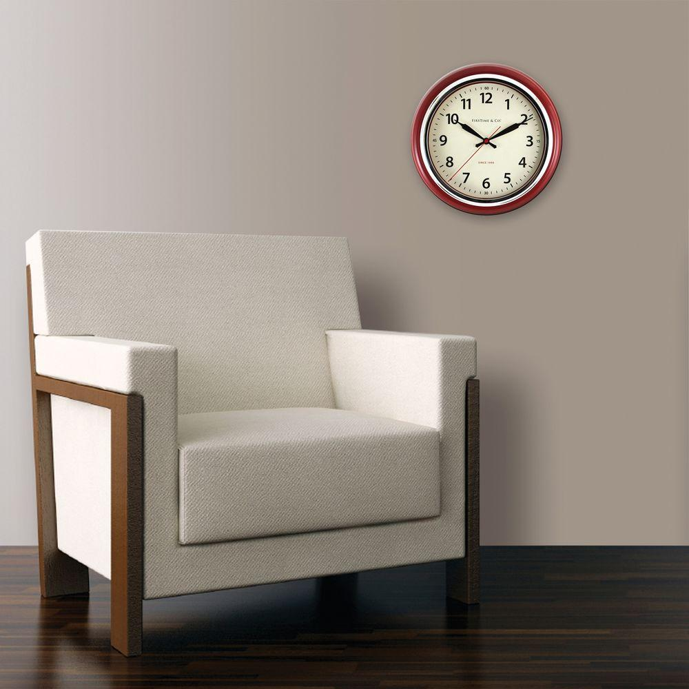 FirsTime 12.5 in. H Cayenne Wall Clock-27711 - The Home Depot