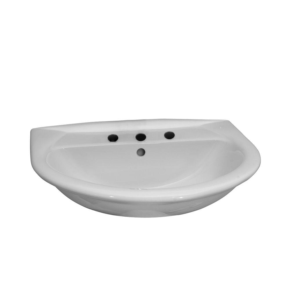 Barclay Products Karla 550 Wall-Hung Bathroom Sink in White-4-838WH - The