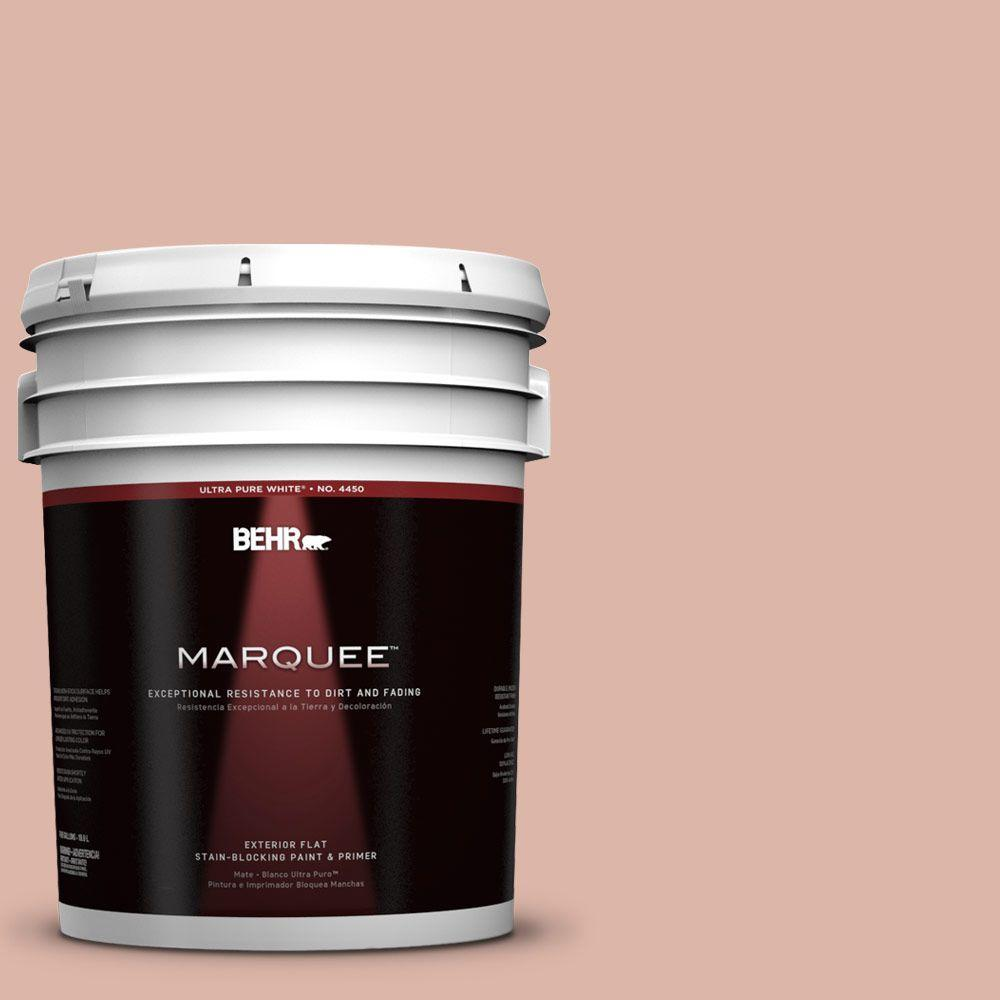 BEHR MARQUEE 5-gal. #220E-3 Melted Ice Cream Flat Exterior Paint-445405 -
