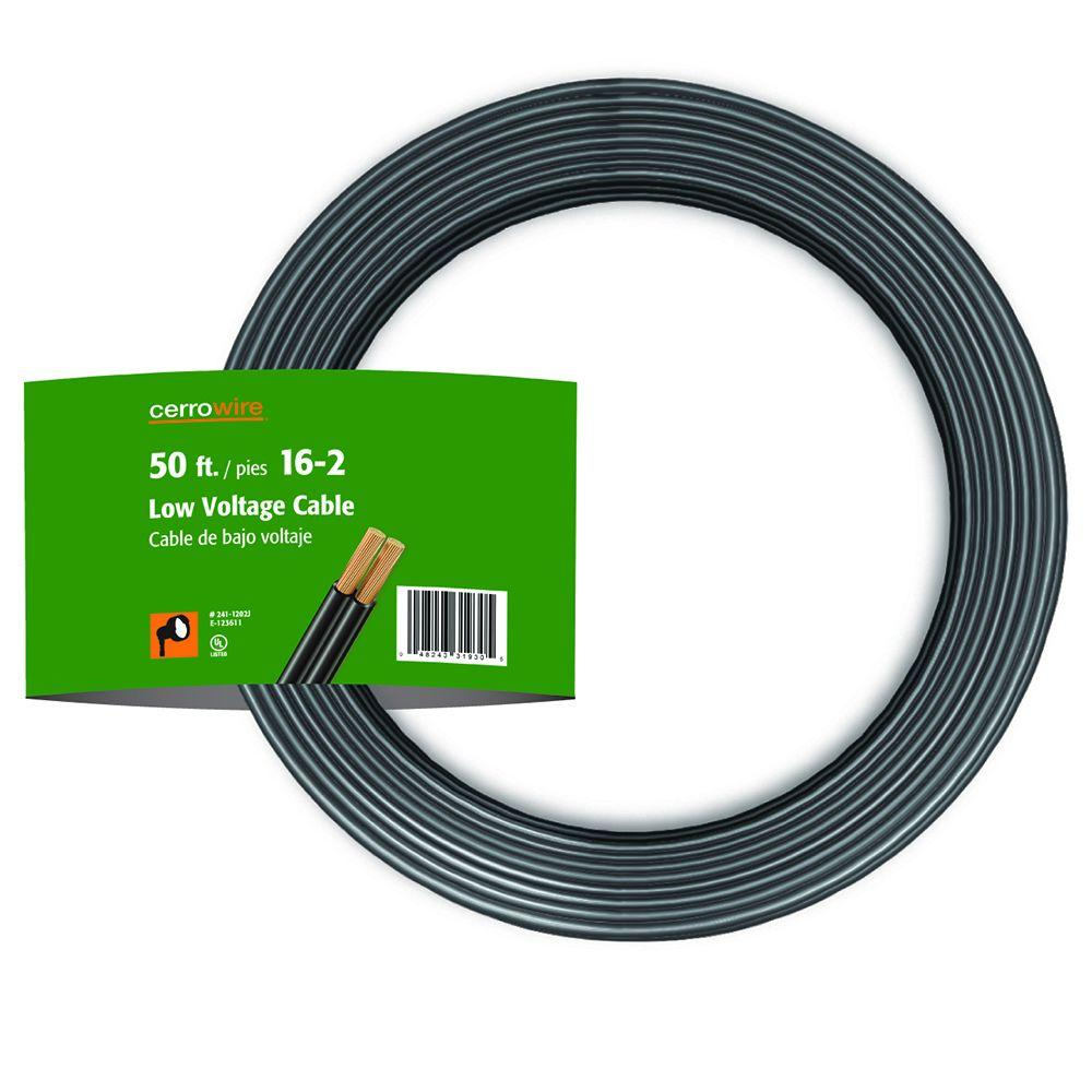 Landscape Lighting Wire: Cerrowire Electrical Wiring 50 ft. 16-Gauge 2-Conductor Low Voltage Landscape Wire 241-1202B