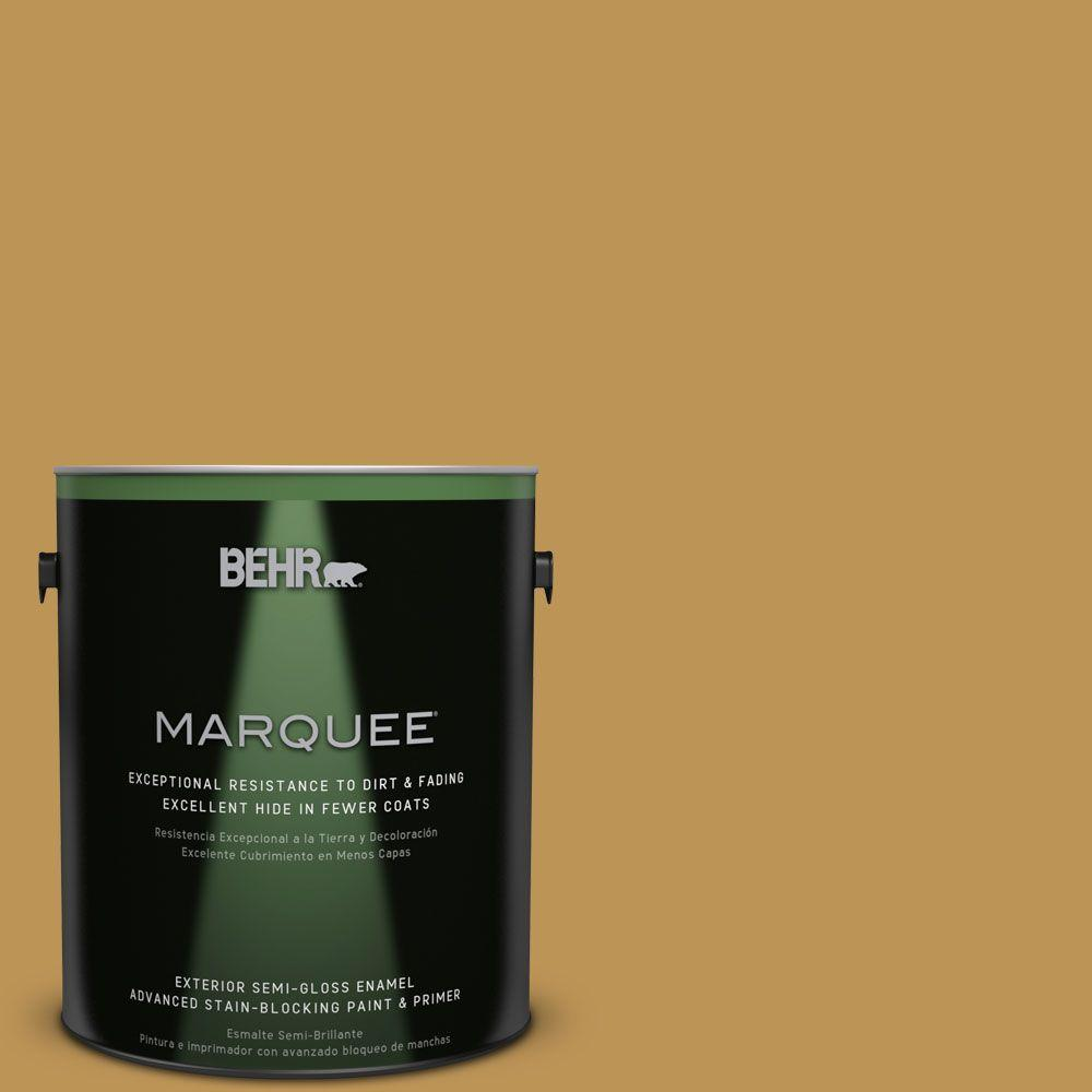 BEHR MARQUEE 1-gal. #T12-5 Lone Star Semi-Gloss Enamel Exterior Paint-545301 -