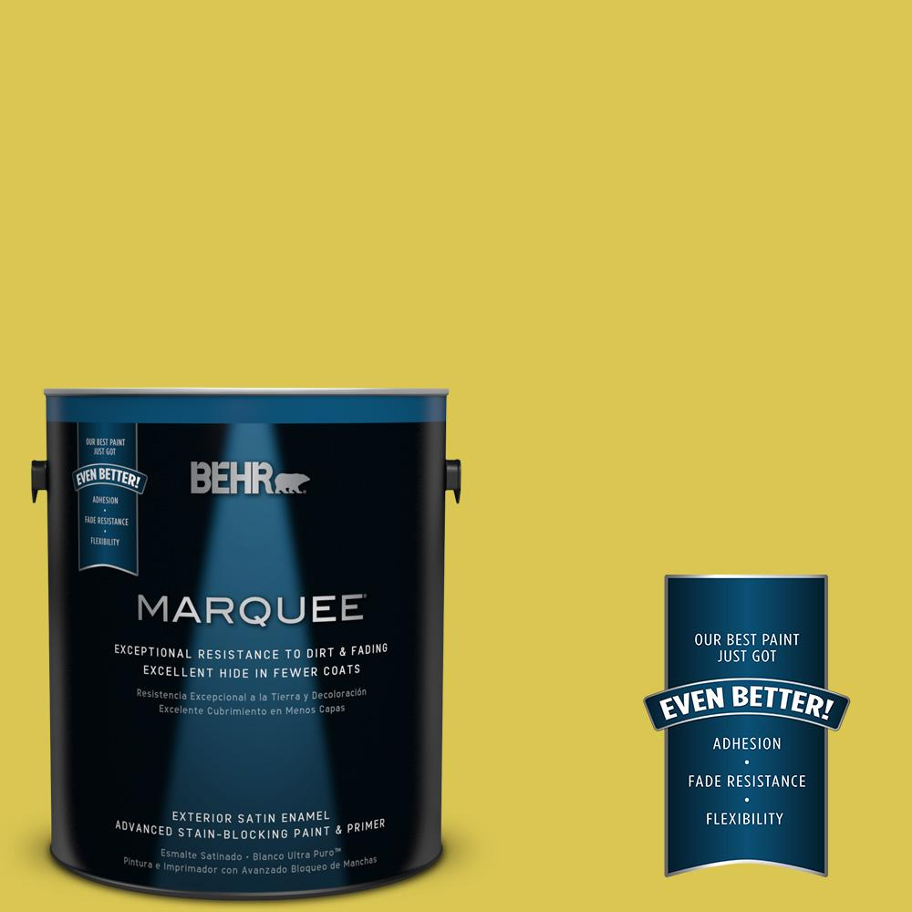 BEHR MARQUEE 1 gal. #HDC-SM16-10 Pepperoncini Satin Enamel Exterior Paint-945301