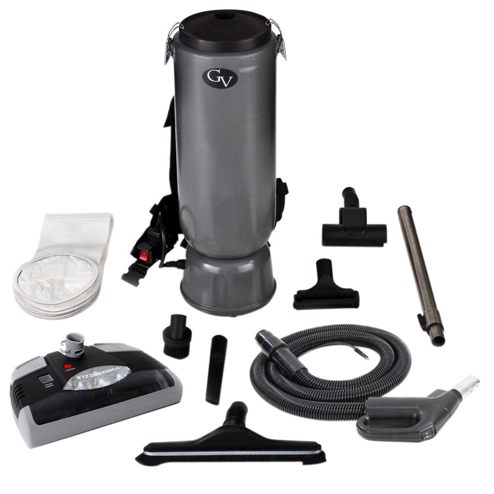 10 Qt. Commercial BackPack Vacuum Cleaner with Power Head