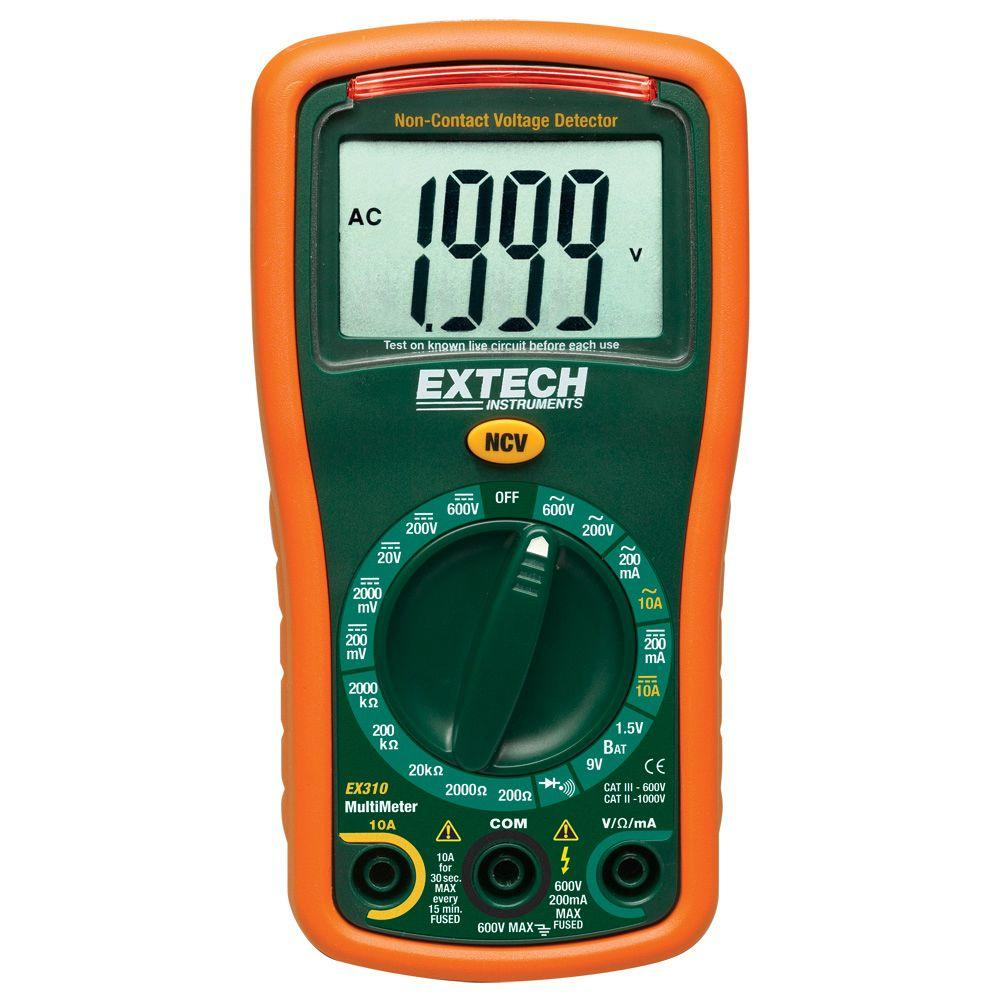 Extech Instruments Manual Multimeter with NCV Manual Ranging
