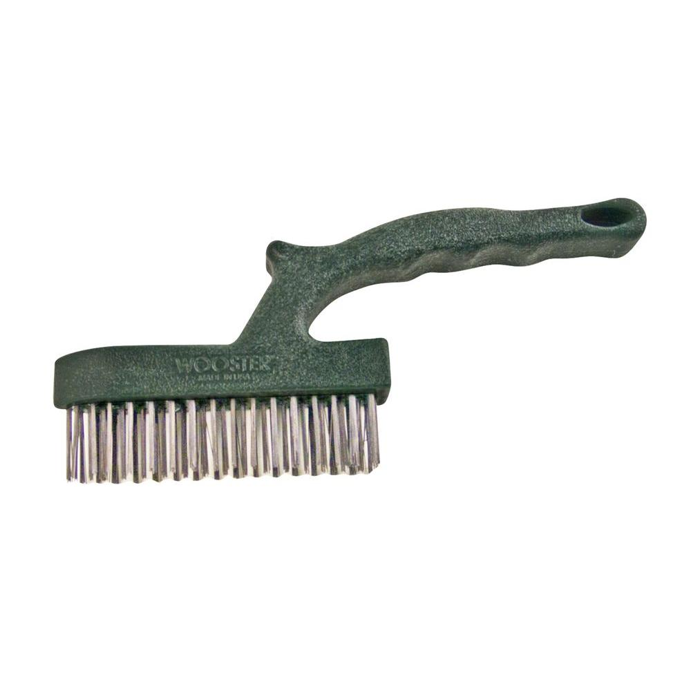 Wooster 5 in. Prep Crew Corner Cleaner Stainless Steel Wire Brush-0018360000