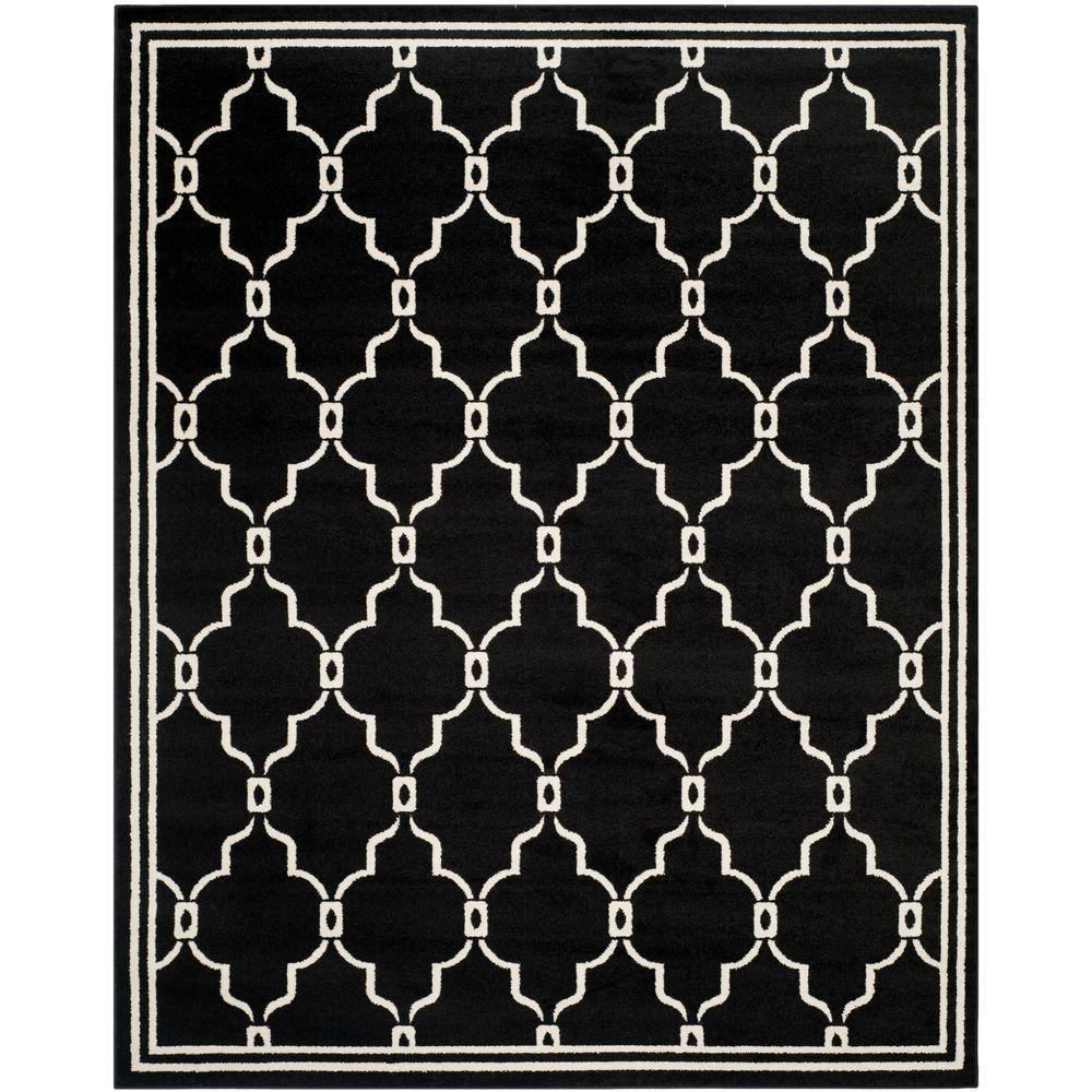 Amherst Anthracite/Ivory 9 ft. x 12 ft. Indoor/Outdoor Area Rug