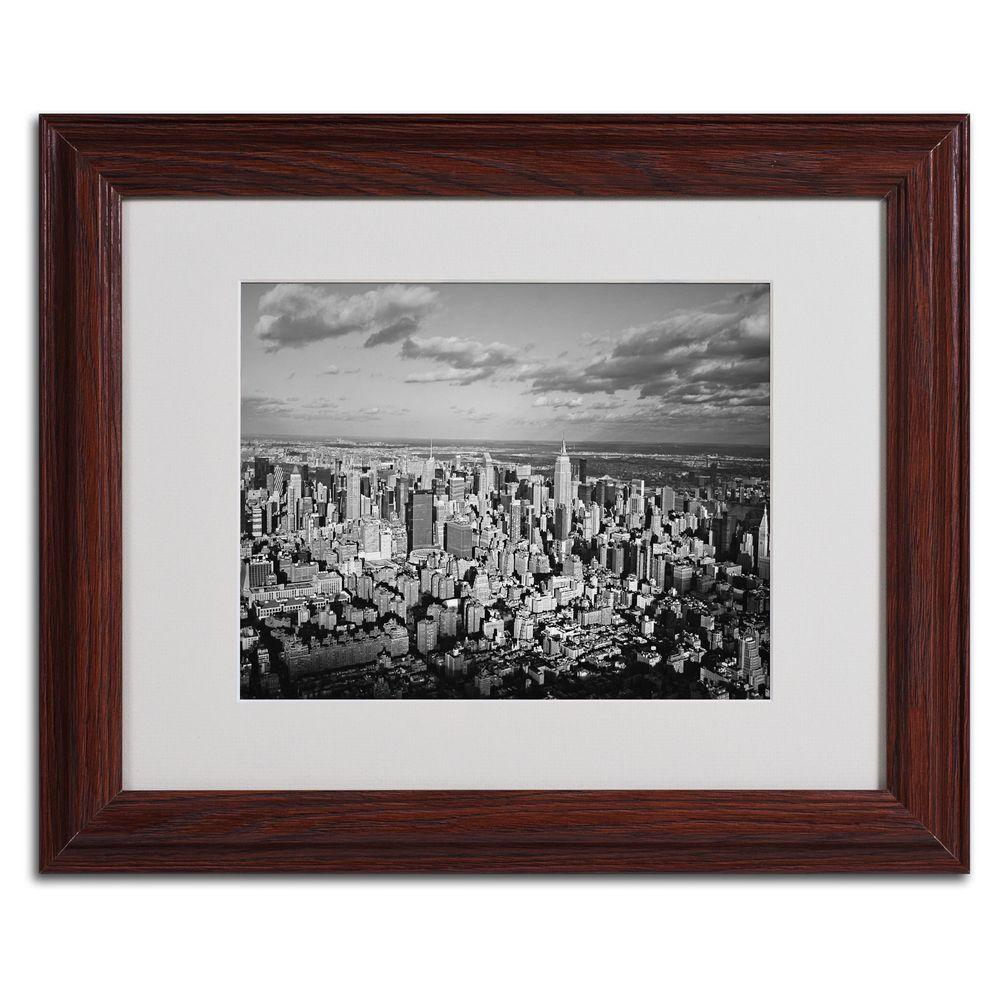 Trademark Fine Art 11 in. x 14 in. Aerial City Canvas