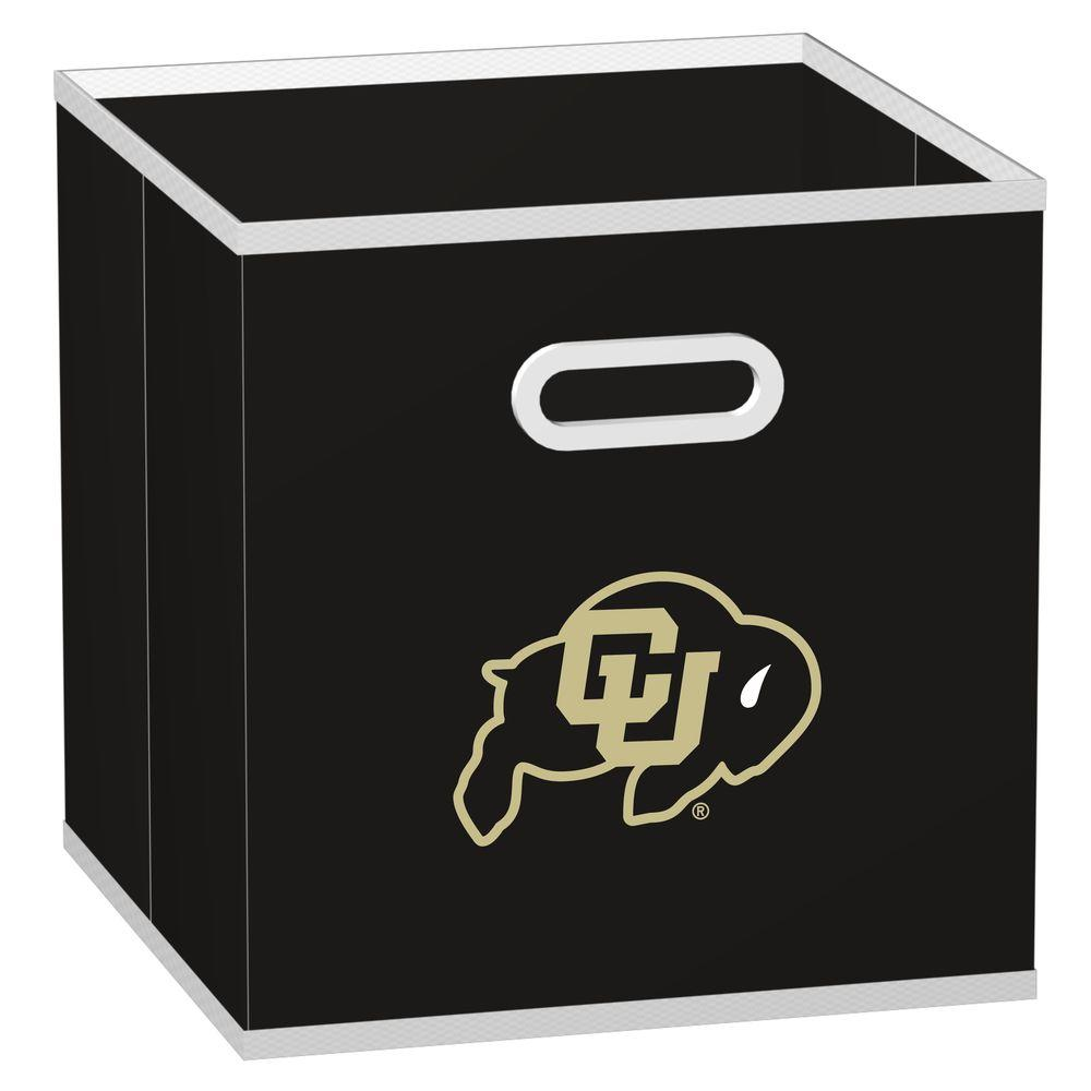 MyOwnersBox College STOREITS University of Colorado 10-1/2 in. W x 10-1/2 in. H x 11 in. D Black Fabric Storage Drawer