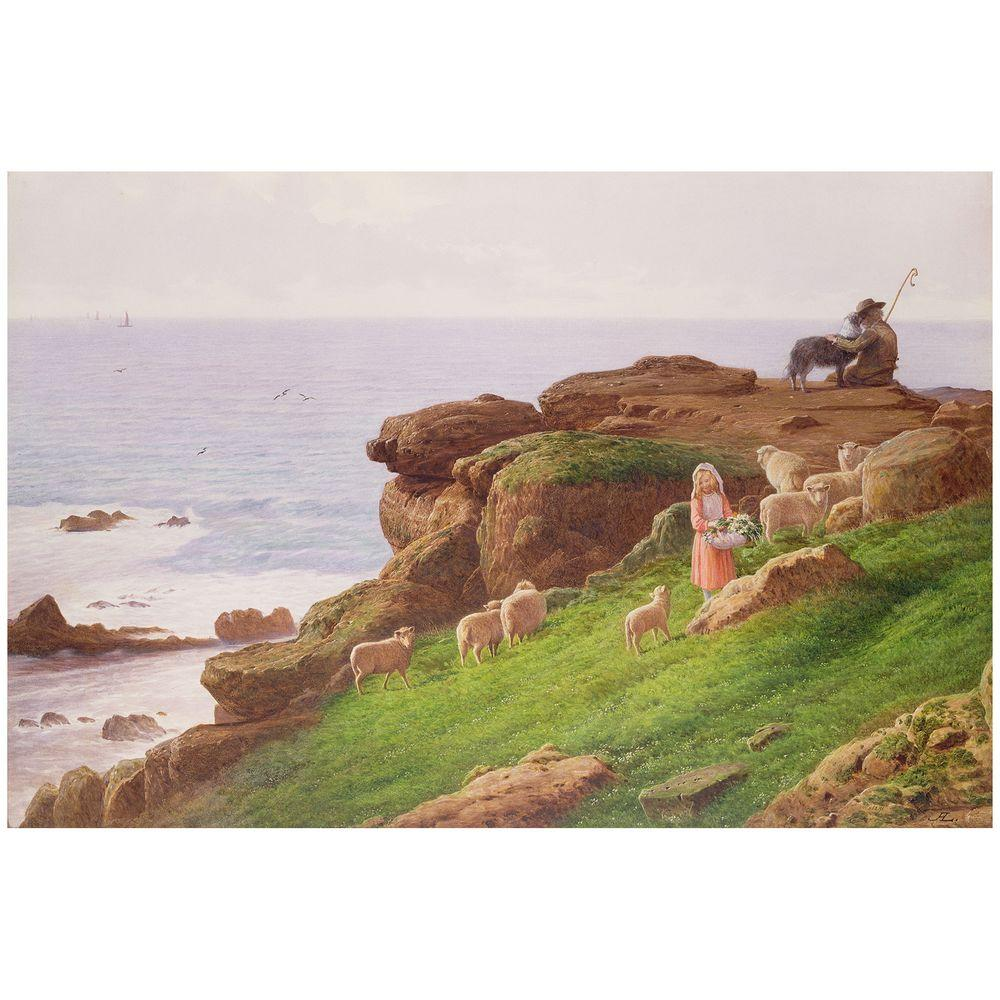 22 in. x 32 in. The Pet Lamb Canvas Art