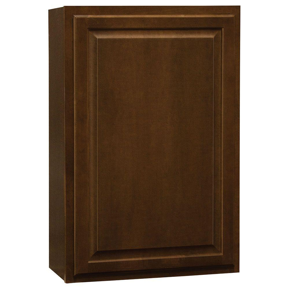 Hampton Assembled 24x36x12 in. Wall Kitchen Cabinet in Cognac