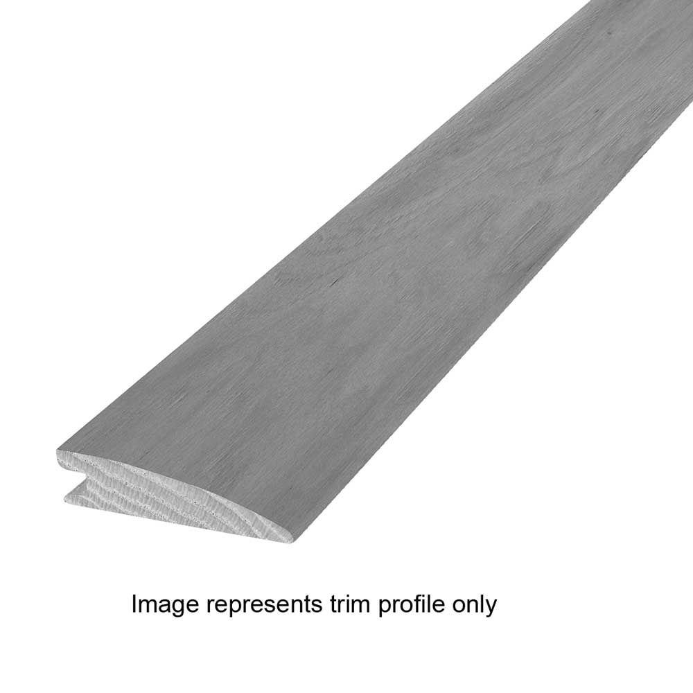 Thunderstorm Gray Hickory 13/32 in. Thick x 1-17/32 in. Wide x 84 in. Length Hardwood Flush Reducer Molding