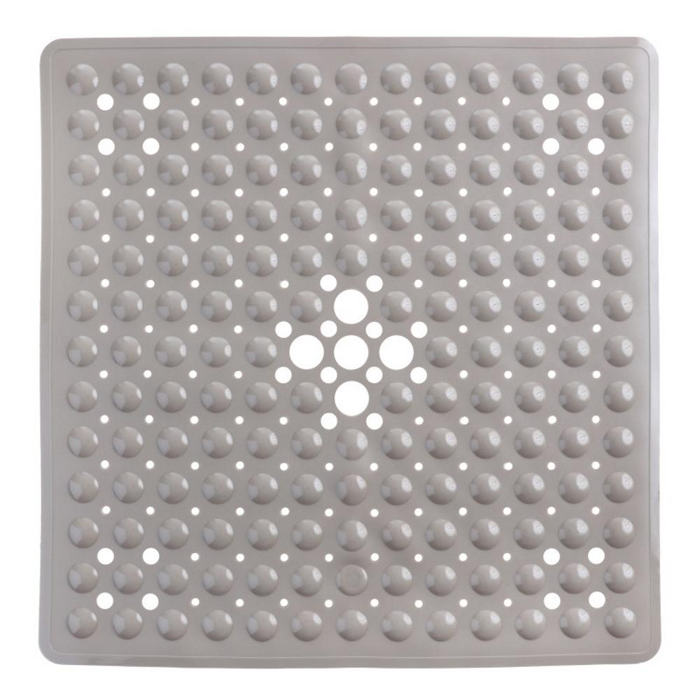 SlipX Solutions 21 in. x 21 in. Square Shower Mat in Tan