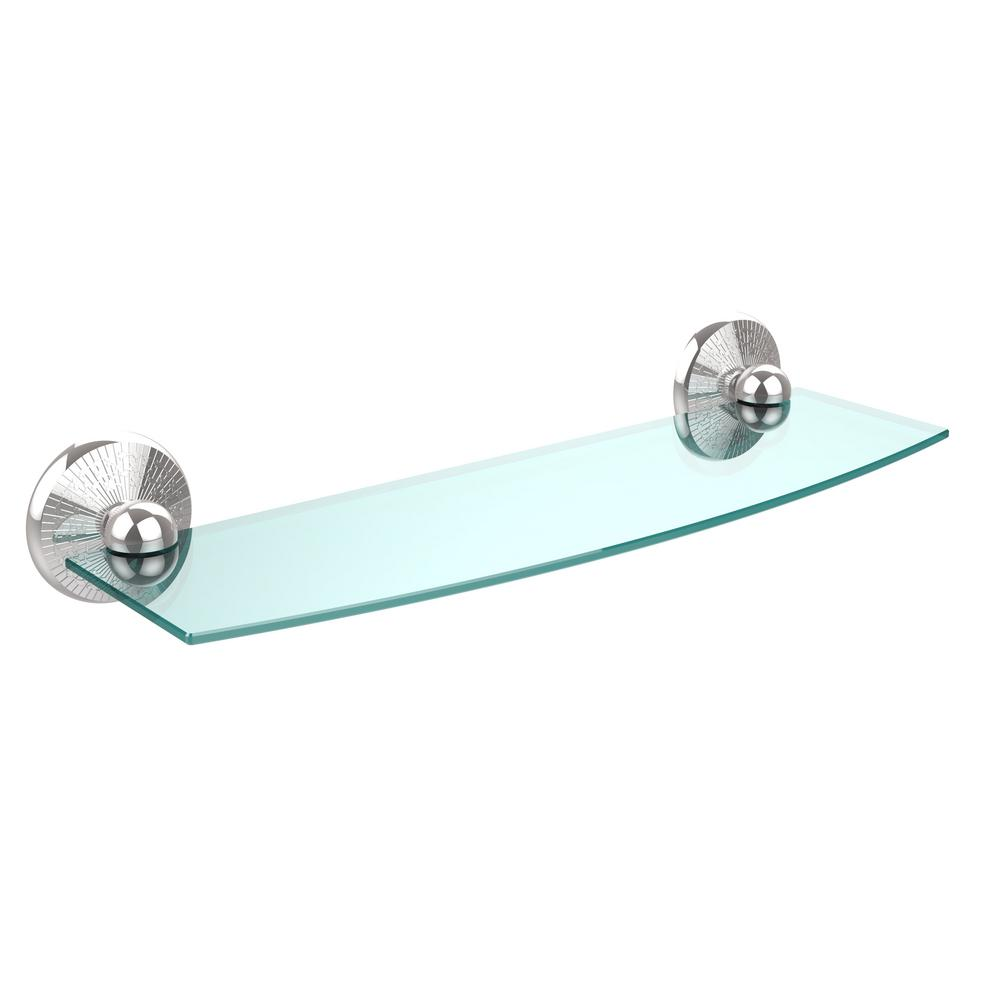 Allied Brass Monte Carlo Collection 18 in. Glass Shelf in Polished