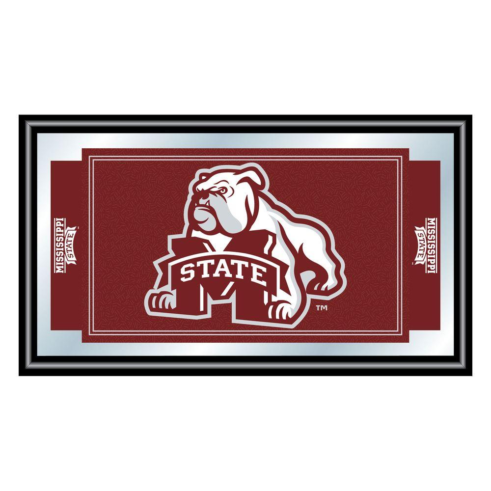 Mississippi State University 15 in. x 26 in. Black Wood Framed