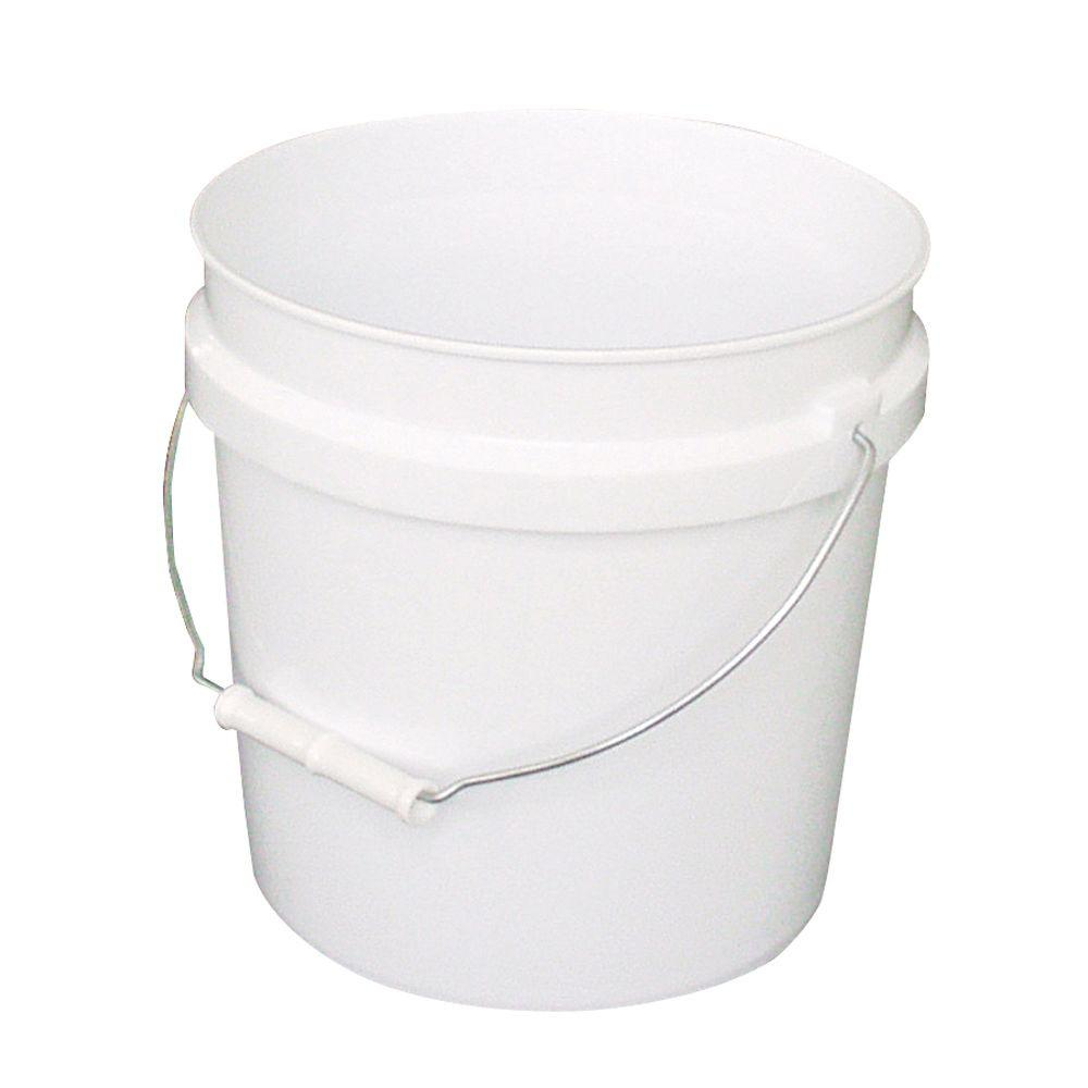 Leaktite 2-Gal. White Plastic Bucket (Pack of 3)-209331 - The Home