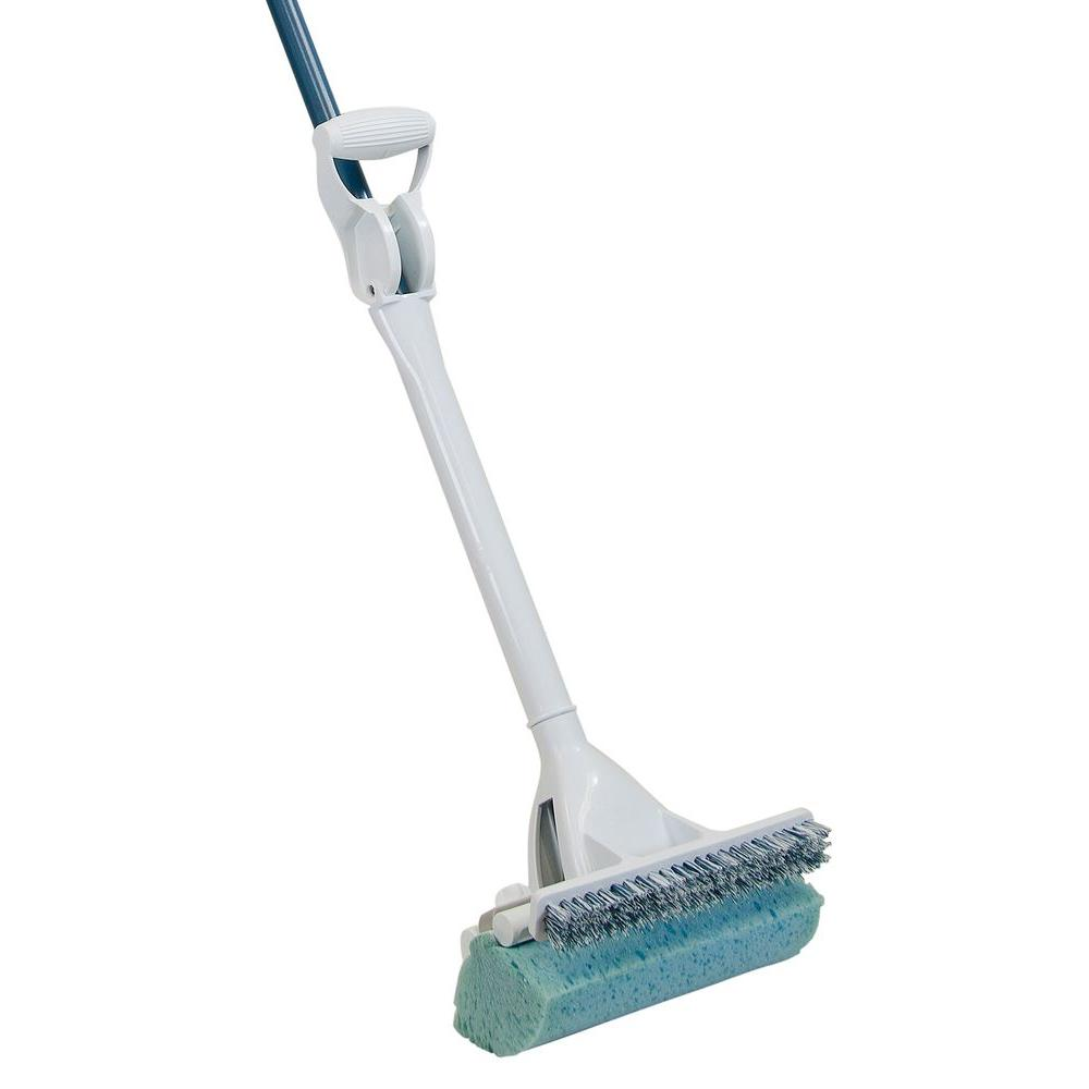 Quickie Mop and Scrub Roller Mop with Scrub Brush and Microban-058BMB-1