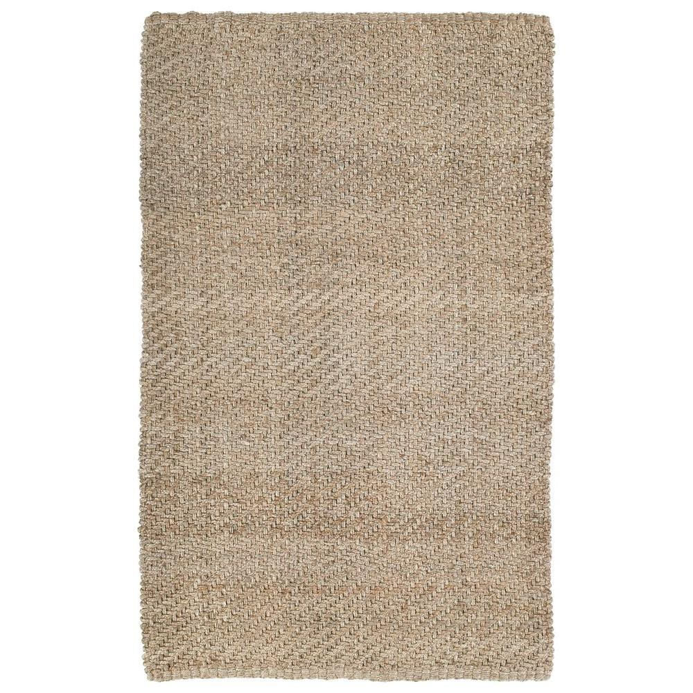 Kaleen Essential Twill Natural 4 ft. x 6 ft. Area Rug-8503-44