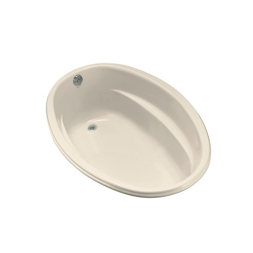 ProFlex 5 ft. Reversible Drain Acrylic Soaking Tub in Almond