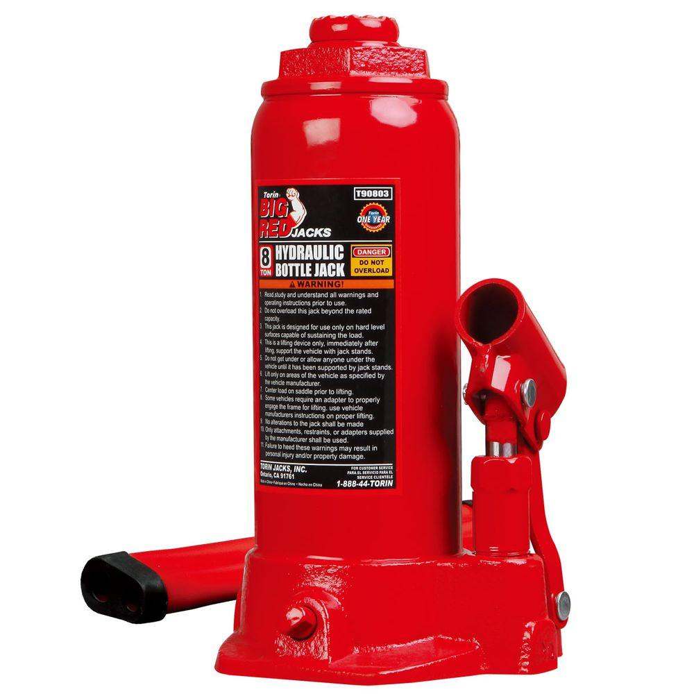 Big Red 8-Ton Bottle Jack-T90803 - The Home Depot