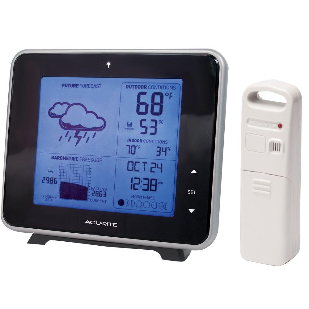 AcuRite Weather Gauges & Instruments Digital Wireless Weather Forecaster with Backlight 13230A1