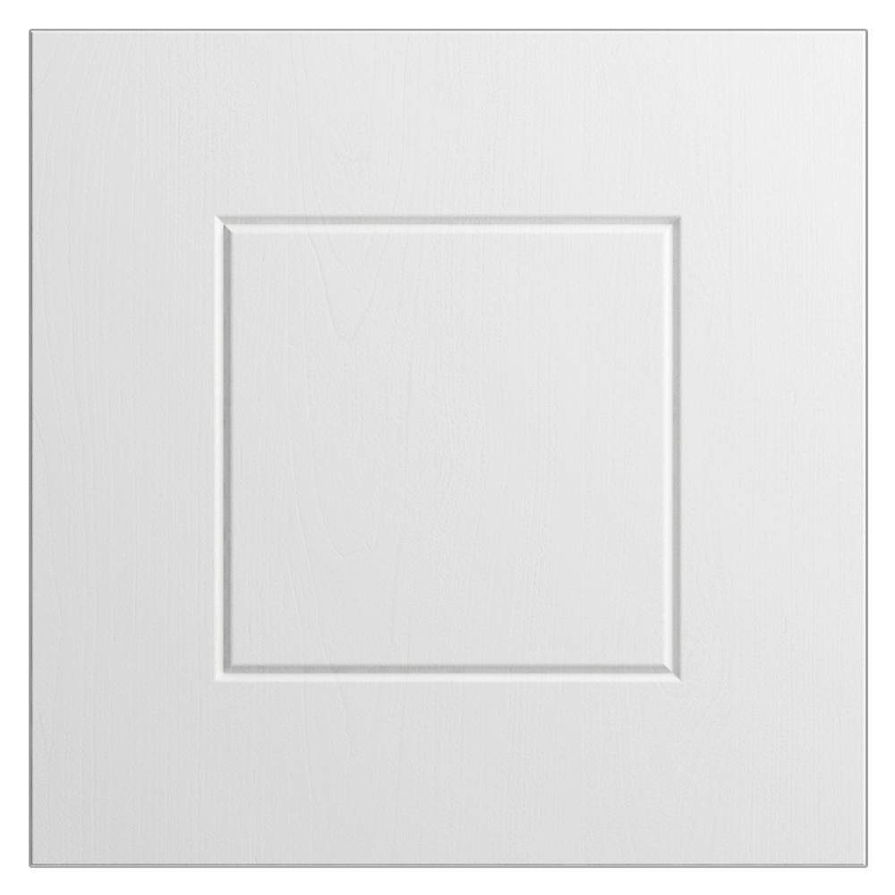 WeatherStrong 12x12 in. Cabinet Door Sample in Palm Beach Radiant White